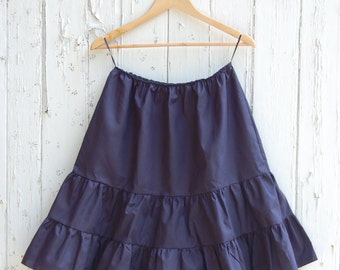 Navy Petticoat Cotton Skirt
