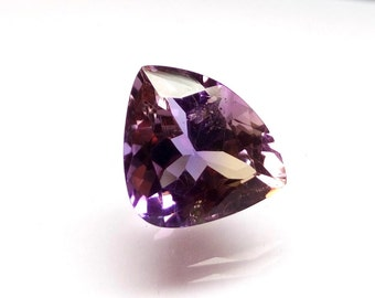 Ametrine Stone 16x13x9 mm - Ametrine Triangle Shape Faceted Gemstone