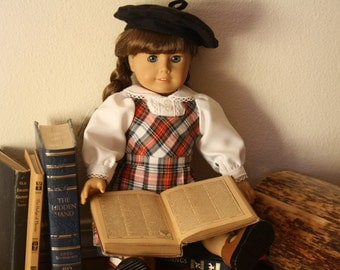 """School outfit, uniform, jumper, blouse and beret, American Girl Molly, 18"""" doll"""