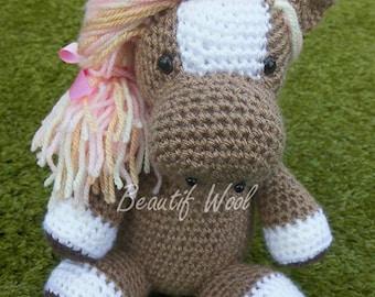 Crochet Pretty Pony Horse - Pink Pony