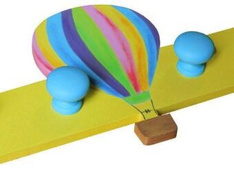 Wooden Hot Air Balloon Hanger / Hot Air Balloon Coat Hooks