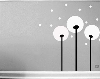 Flower Decals. Dandelion Decals. Geometric Wall Decor. Vinyl Decals. Wall Decal. Living room wall decal. Wall sticker. Home decor decals.