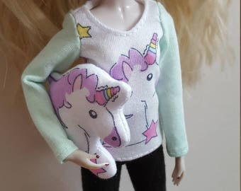 Unicorn Stuffy/soft toy for Pullip family dolls
