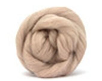 Corriedale Wool Roving /Combed Top/Braid in Mink  - 2 oz