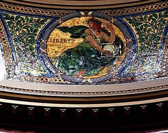 Ceiling of the Capitol Art Print A