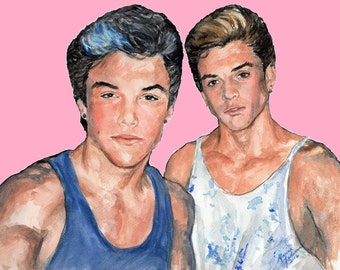 Digital download of Dolan Twins original watercolor