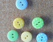 Pretty Push Pins, Polka Dot Map Pins, Bright Stripey Student Deco, Noticeboard Accessory, Office Decoration, Gifts for Women, Stationery