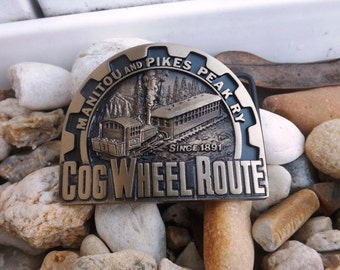 Cog Wheel Route, Manitou And Pikes Peak RY Belt Buckle
