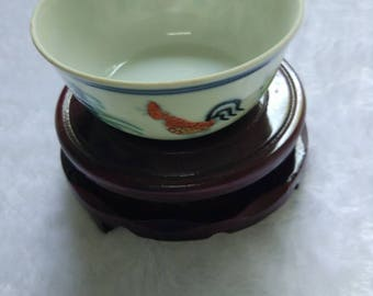 old chinese  Ming Chenghua Doucai porcelain rooster cup b28
