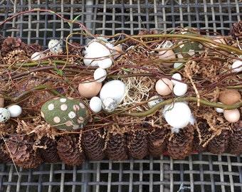 Easter Egg Log Table Ornament