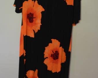 Rare vintage set of 2: orange and yellow flower dresses