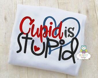 Cupid is Stupid Shirt or Bodysuit, Valentine Shirt, Valentines Day Shirt, Valentines Day Outfit, Boy Valentine, Heart Shirt