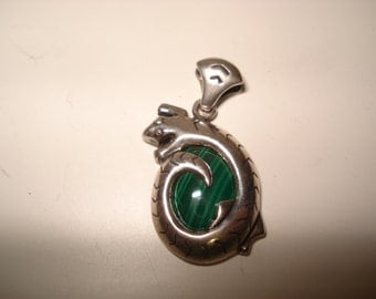 Chameleon Malachite Sterling Pendant by Carolyn Pollack