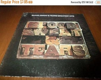 Save 30% Today Vintage 1972 LP Record Blood Sweat & Tears Greatest Hits Excellent Condition Columbia Records 3804
