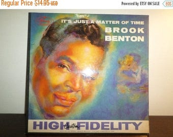 Save 30% Today Vintage 1959 Vinyl LP Jazz Record It's Just A Matter of Time Brook Benton Very Good Condition 7934