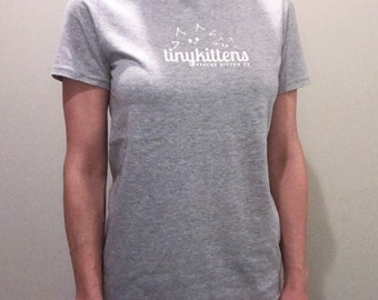 L - UNISEX - Sport Grey - Official TinyKittens T-Shirt - 100% of proceeds support animal rescue!