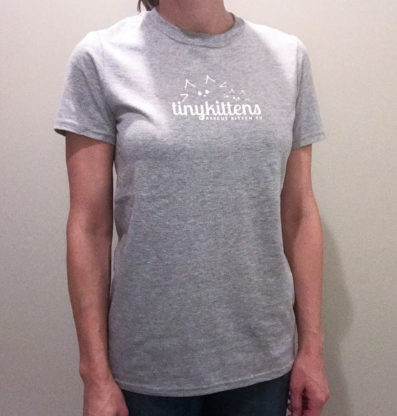 XL - UNISEX - Sport Grey - Official TinyKittens T-Shirt - 100% of proceeds support animal rescue!