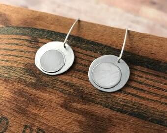Recycled Tin Circle Earrings
