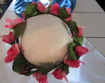Rose Wreath or Garland Accessory for Saint Costumes