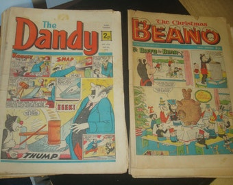 Set of 11 Vintage Dandy Comics from 1971 And 1 Beano comics from 1968