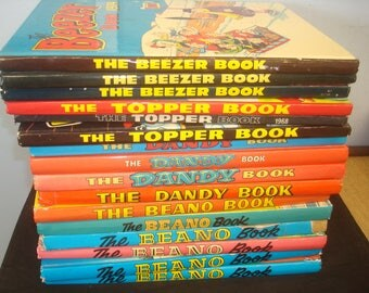 Set of 16 Dandy/Beano/Beezer & Topper Annuals.  Mostly in good condition