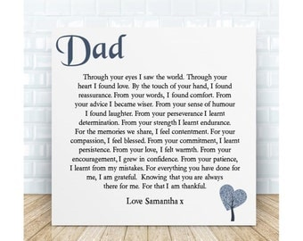 Personalised Dad Poem Plaque