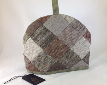 Harris Tweed tea cosy in patchwork
