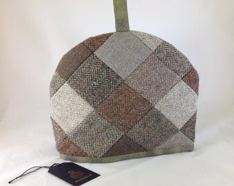 Harris Tweed Patchwork Tea Cosy