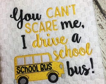 School Bus - School Bus Driver - Towel Design - 2 Sizes Included - Embroidery Design -   DIGITAL Embroidery DESIGN
