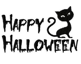 Embroidery Design Happy Halloween 5 - DIGITAL DOWNLOAD PRODUCT