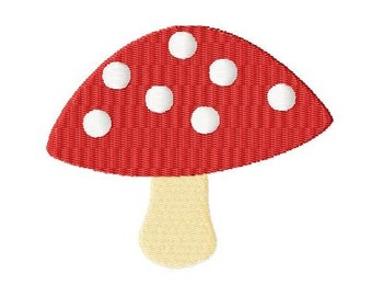 Embroidery Design Fly amanita 4'x4' - DIGITAL DOWNLOAD PRODUCT