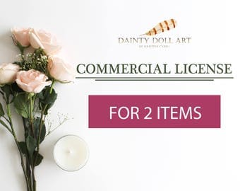 Commercial License for TWO items only - No Credit Required