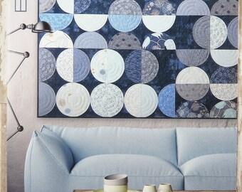 Bowls Quilt Pattern - Zen Chic - Brigitte Heitland - Moda - True Blue - BOQP