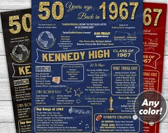 class reunion decorations 50th high school reunion class of 1967 printable chalkboard poster