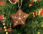 Handcrafted Cinnamon Scented Star Cookie Ornament | Not Real Cookie DO NOT EAT