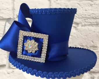 Blue Diamante Mini Top Hat / NYE Mini Top Hat