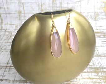 Janna Conner / Rose Quartz / Rose Quartz Earrings / Gifts for Bridesmaids / Bridesmaid Jewelry / Quartz Earrings / Rose Quartz Jewelry