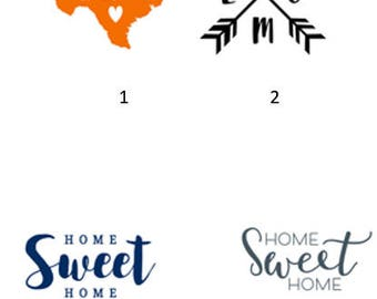 Vinyl Decal or Iron on - Home Sweet home, Home, house without a dog, basesball home
