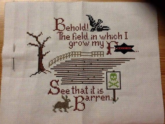 Offensive Cross Stitch Patterns