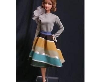 Dolls dress for Fashion royalty,,Silkstone,All barbie doll- No.0024