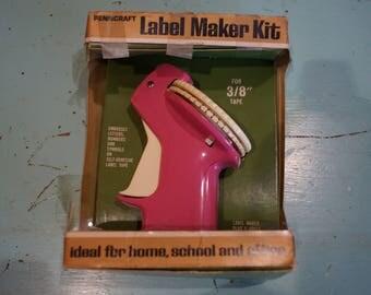 Vintage Hot Pink JC Penneys PENNCRAFT Label Maker