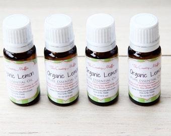 Organic Lemon Essential Oil {10 ml}, Citrus Limonum - Lemon Oil
