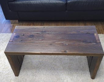 Coffee Table Rustic Coffee Table Upcycled Coffee Table Bench Reclaimed Wood Coffee