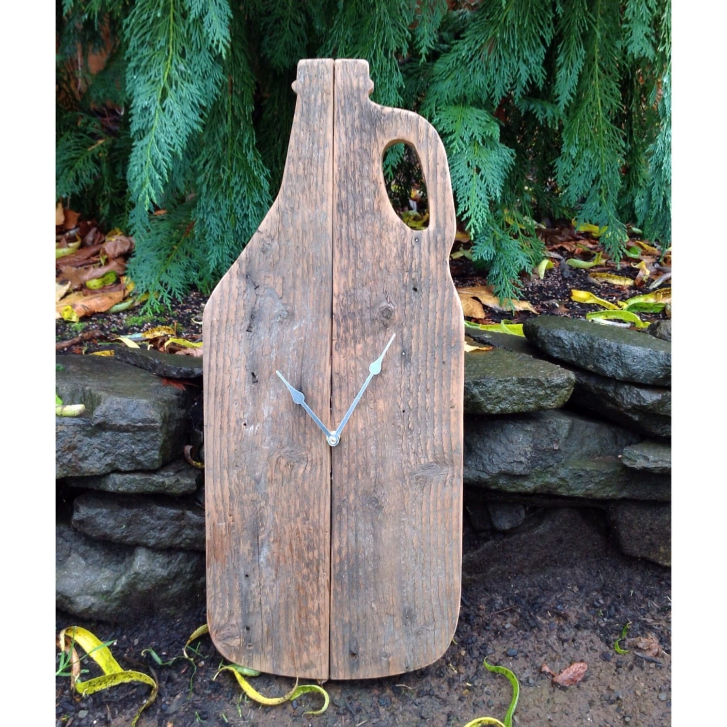 Beer growler beer sign wooden wall clock rustic clock man zoom amipublicfo Image collections