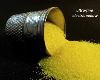 glitter - electric yellow ultra-fine polyester