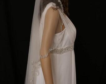 Bridal Veil Beaded Flower (all around)