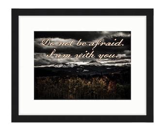 Do Not Be Afraid - Bible Verse Art - lsaiah 41