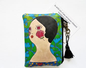 Gifts under 10, Stocking Fillers, Waterproof business card/credit card Wallet, 1970s vibe