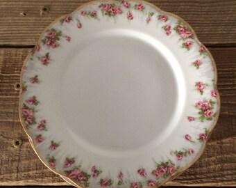 Set of 4 Frederic Lanternier Limoges Floral Salad Dessert Plates