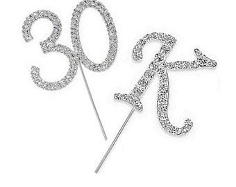 5 cm Buchstabe oder Zahl Kristall